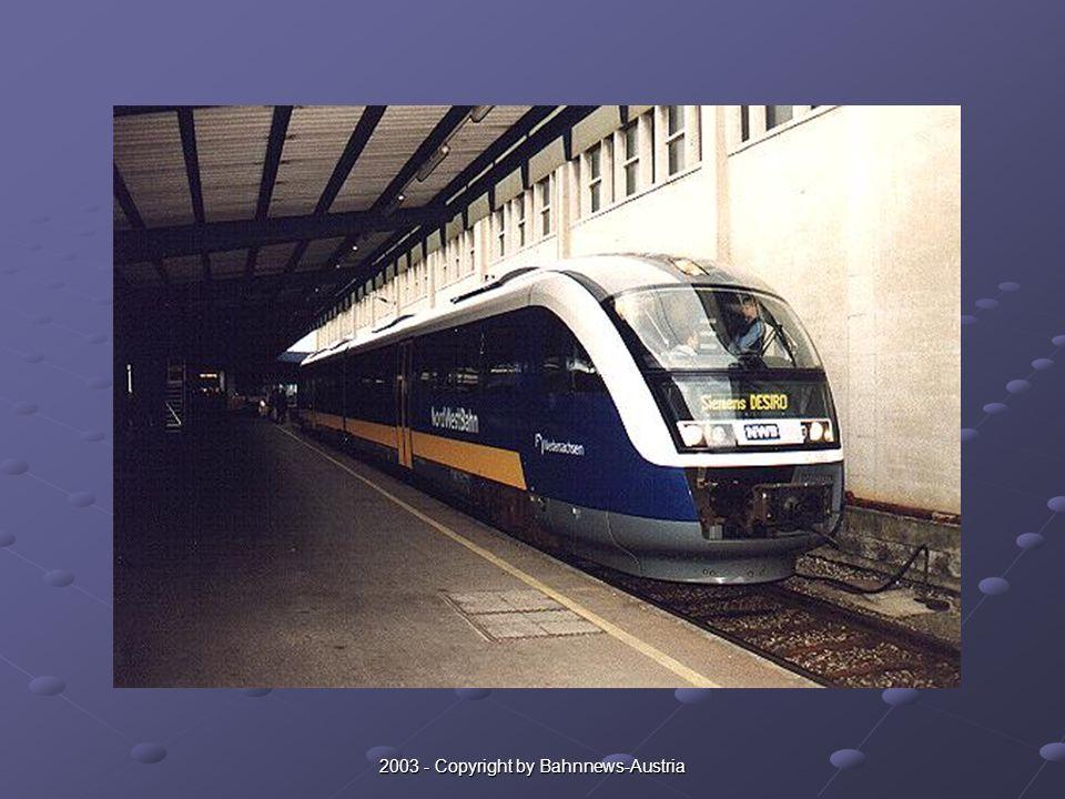 Nicht ohne Grund befand sich im Frühjahr 2002 ein Desiro Diestriebwagen der deutschen Nord West Bahn in Ostösterreich um hierzulande zahlreiche Probefahrten zu absolvieren.