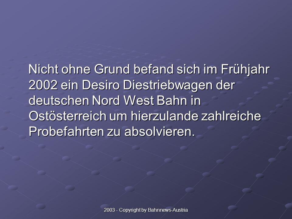2003 - Copyright by Bahnnews-Austria