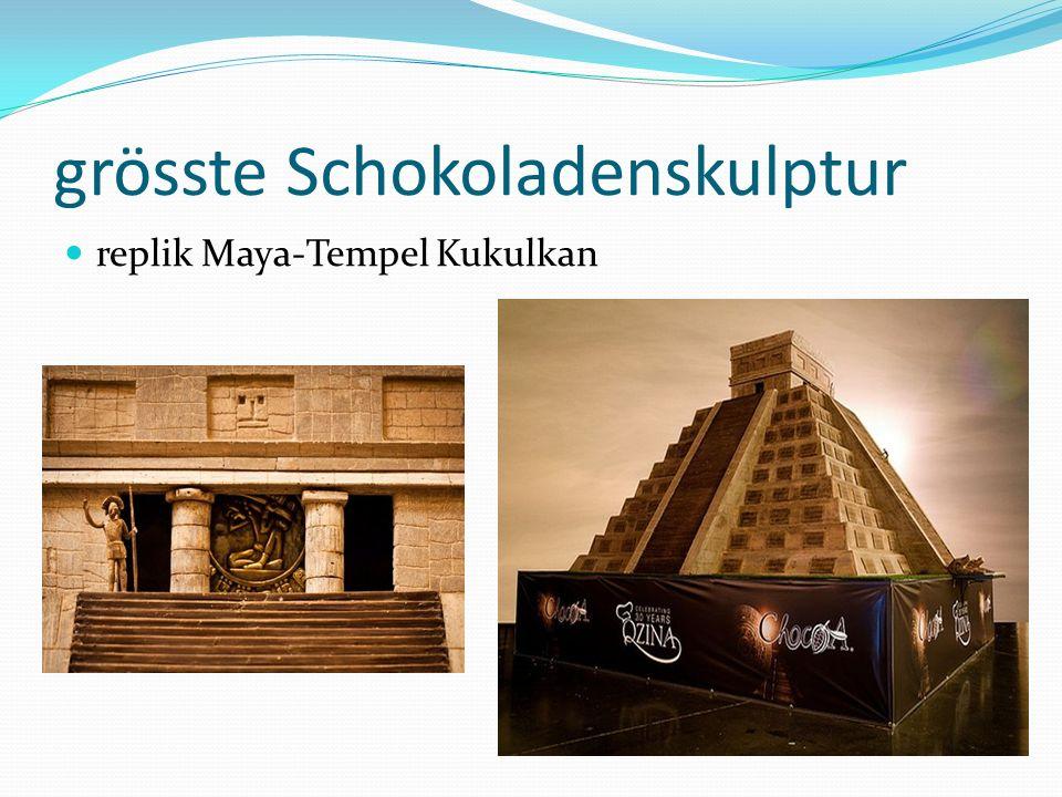 grösste Schokoladenskulptur replik Maya-Tempel Kukulkan