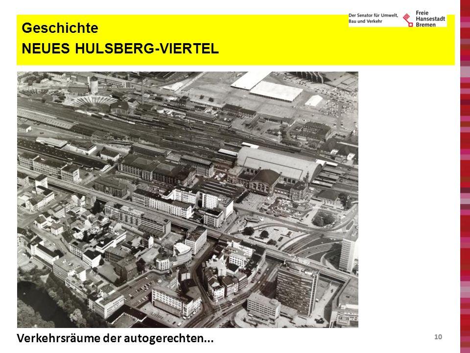 10 Geschichte NEUES HULSBERG-VIERTEL Verkehrsräume der autogerechten...