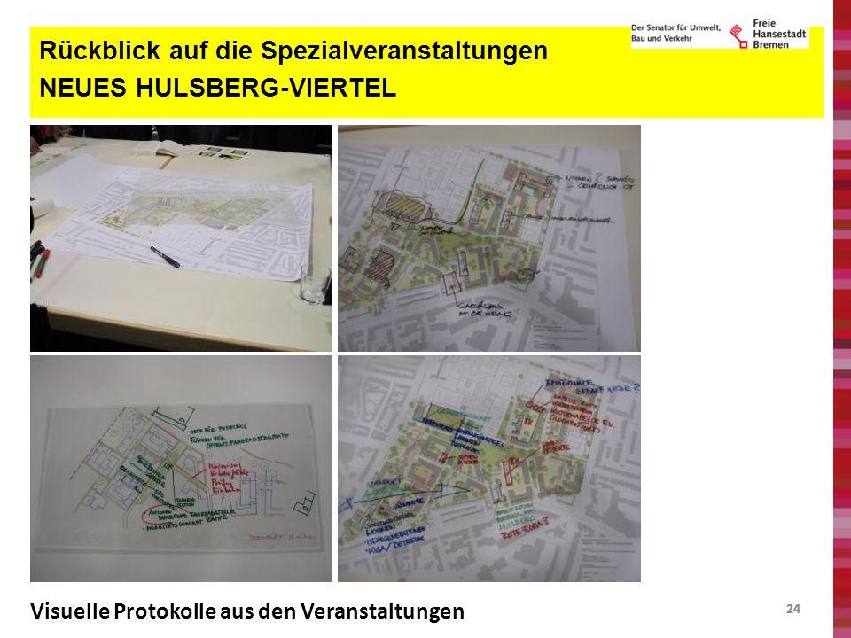24 Rückblick auf die Spezialveranstaltungen NEUES HULSBERG-VIERTEL Visuelle Protokolle aus den Veranstaltungen