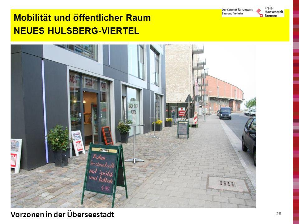 28 Mobilität und öffentlicher Raum NEUES HULSBERG-VIERTEL Vorzonen in der Überseestadt