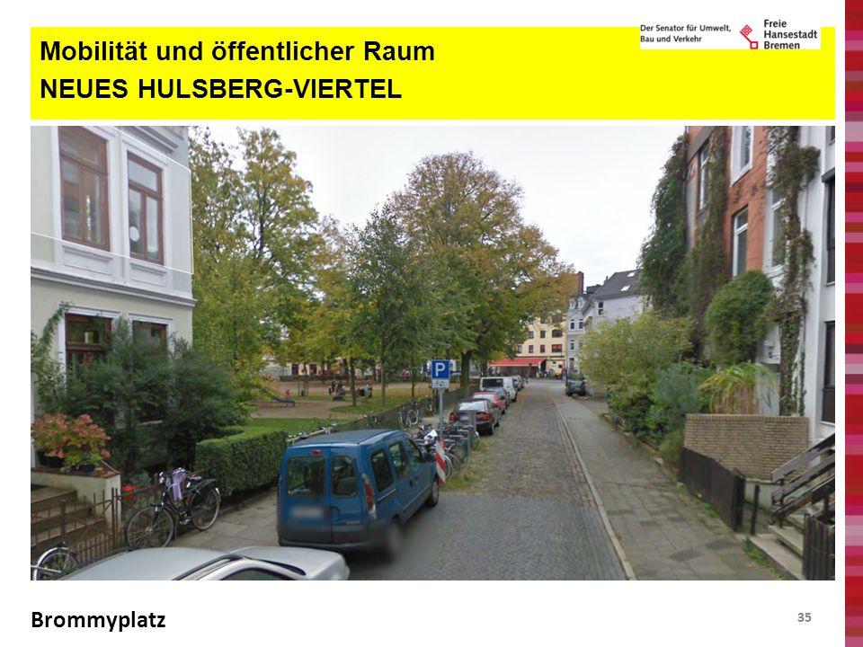 35 Mobilität und öffentlicher Raum NEUES HULSBERG-VIERTEL Brommyplatz
