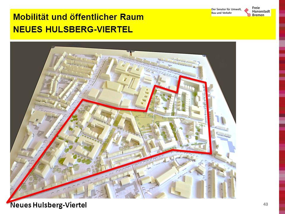 43 Mobilität und öffentlicher Raum NEUES HULSBERG-VIERTEL Neues Hulsberg-Viertel