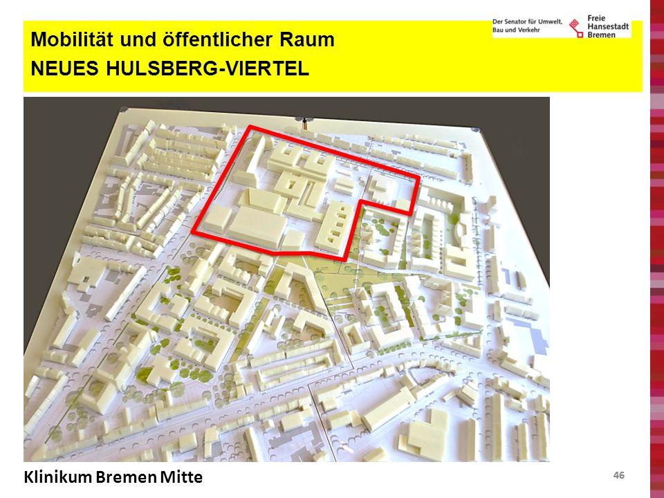 46 Mobilität und öffentlicher Raum NEUES HULSBERG-VIERTEL Klinikum Bremen Mitte