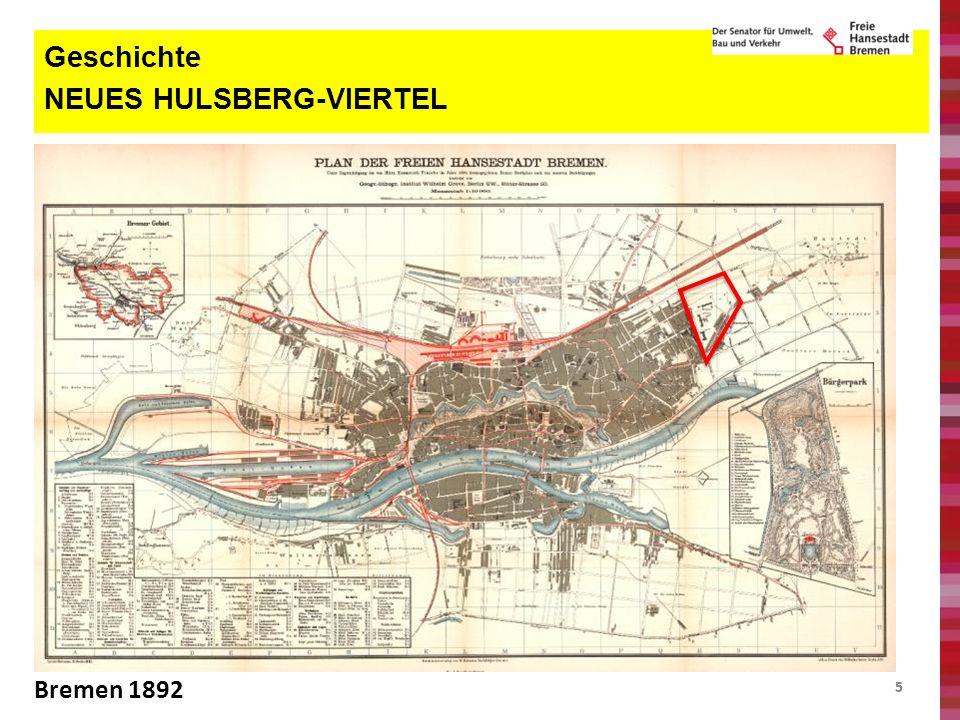 55 Geschichte NEUES HULSBERG-VIERTEL Bremen 1892