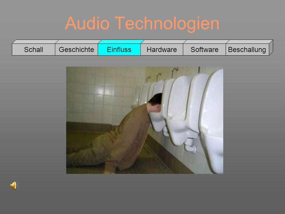 Audio Technologien Schall GeschichteEinflussHardwareSoftwareBeschallung