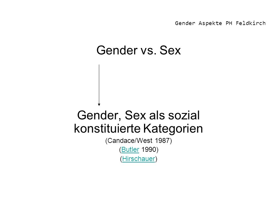 Gender Aspekte PH Feldkirch