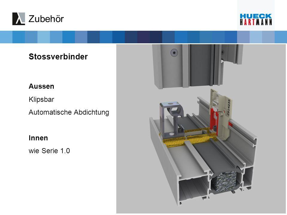 Stossverbinder Zubehör Aussen Klipsbar Automatische Abdichtung Innen wie Serie 1.0