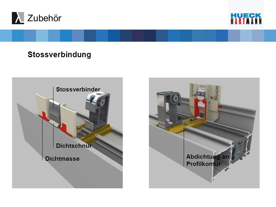 Stossverbindung Stossverbinder Dichtschnur Dichtmasse Abdichtung an Profilkontur Zubehör