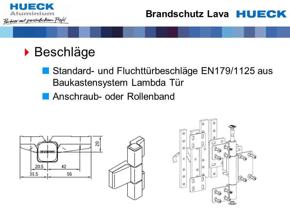 Beschläge Standard- und Fluchttürbeschläge EN179/1125 aus Baukastensystem Lambda Tür Anschraub- oder Rollenband Brandschutz Lava