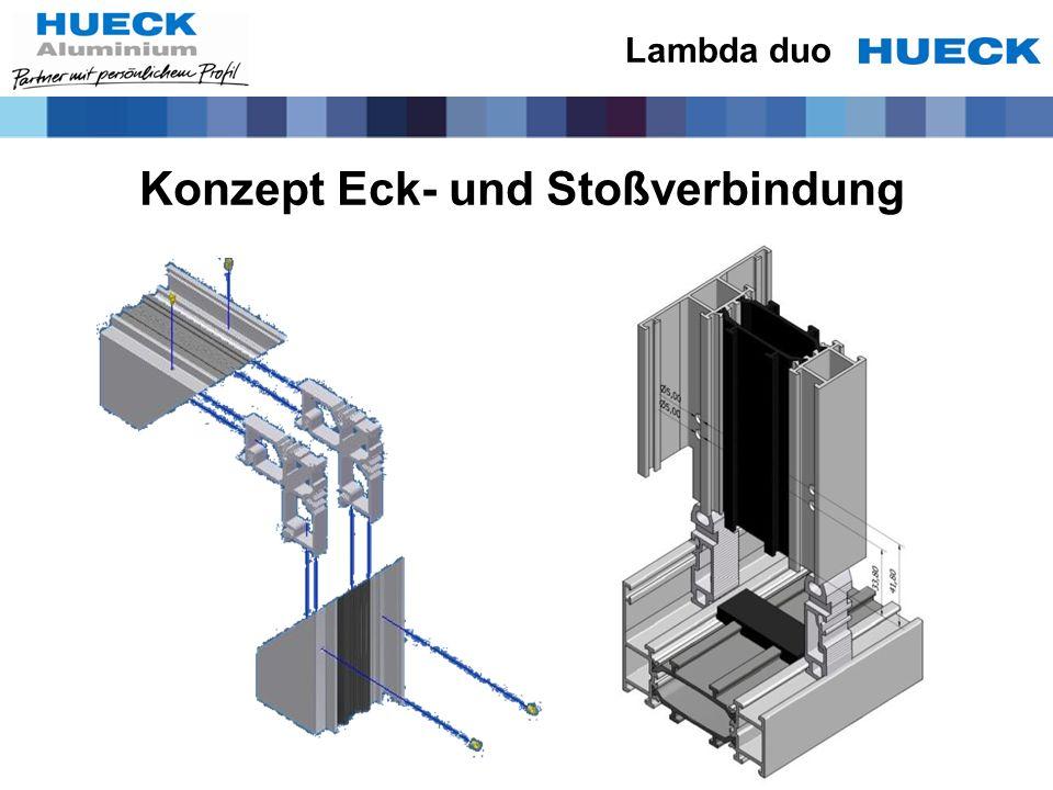 Konzept Eck- und Stoßverbindung Lambda duo