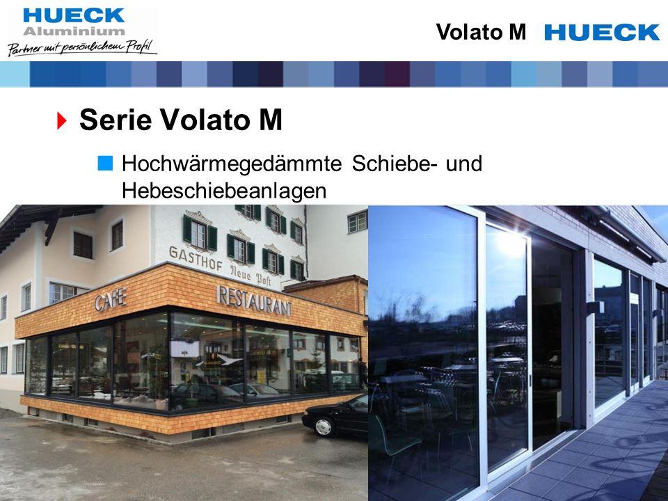 Serie Volato M Hochwärmegedämmte Schiebe- und Hebeschiebeanlagen Volato M