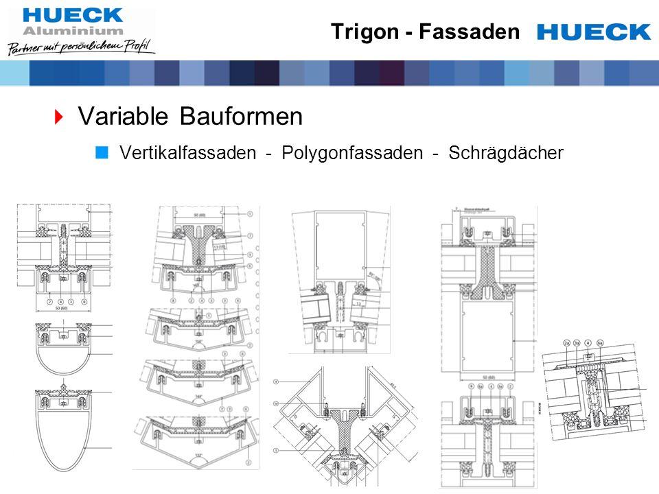 Trigon - Fassaden Variable Bauformen Vertikalfassaden - Polygonfassaden - Schrägdächer