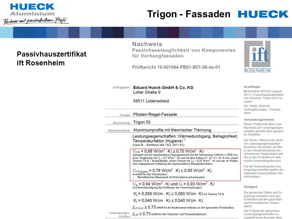 Trigon - Fassaden Passivhauszertifikat ift Rosenheim