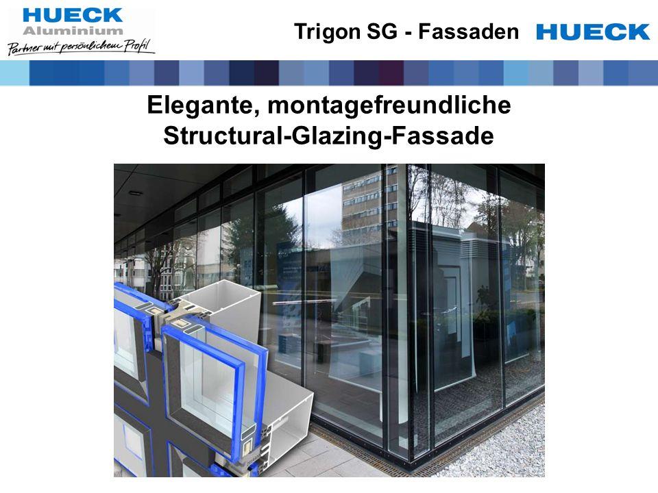 Elegante, montagefreundliche Structural-Glazing-Fassade Trigon SG - Fassaden