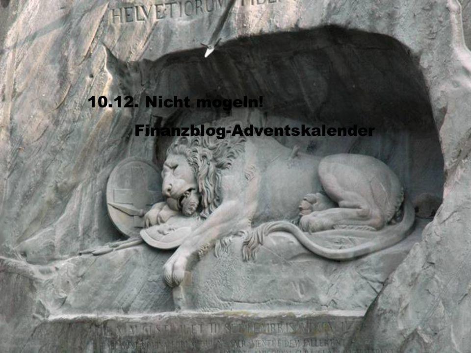10.12. Nicht mogeln! Finanzblog-Adventskalender