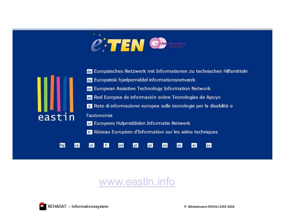 www.eastin.info