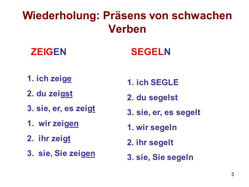 4 Präsens von starken Verben Verbstamm + Präsensendungen (osnova glagola + prezentski nastavci) U 2.