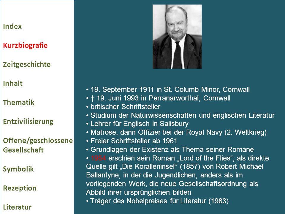 19. September 1911 in St. Columb Minor, Cornwall 19. Juni 1993 in Perranarworthal, Cornwall britischer Schriftsteller Studium der Naturwissenschaften