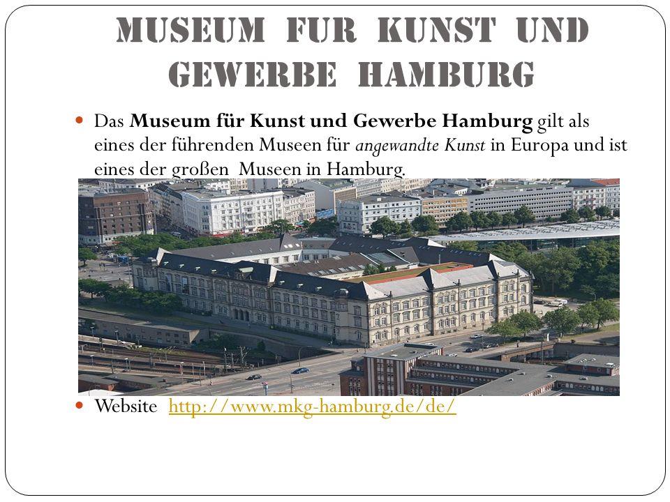 Museum fur kunst und gewerbe hamburg Das Museum für Kunst und Gewerbe Hamburg gilt als eines der führenden Museen für angewandte Kunst in Europa und i