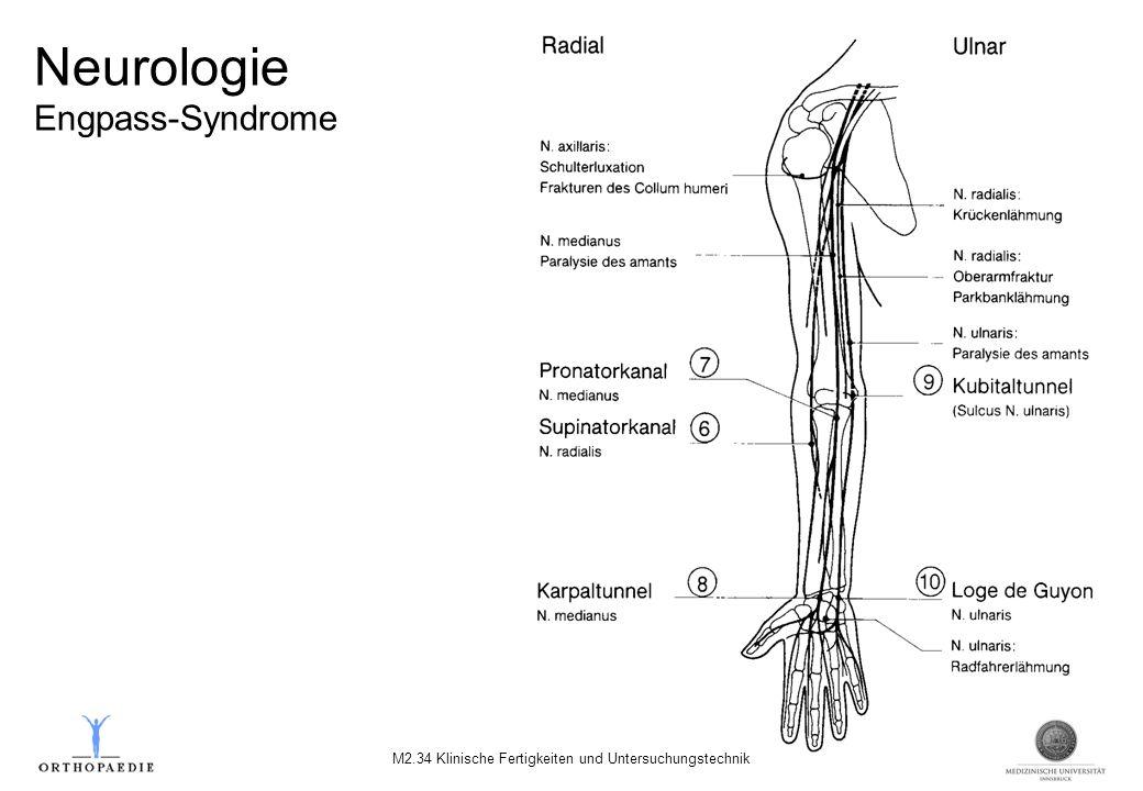 Neurologie Engpass-Syndrome M2.34 Klinische Fertigkeiten und Untersuchungstechnik