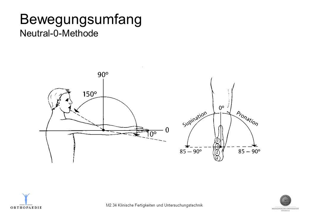 Bewegungsumfang Neutral-0-Methode M2.34 Klinische Fertigkeiten und Untersuchungstechnik