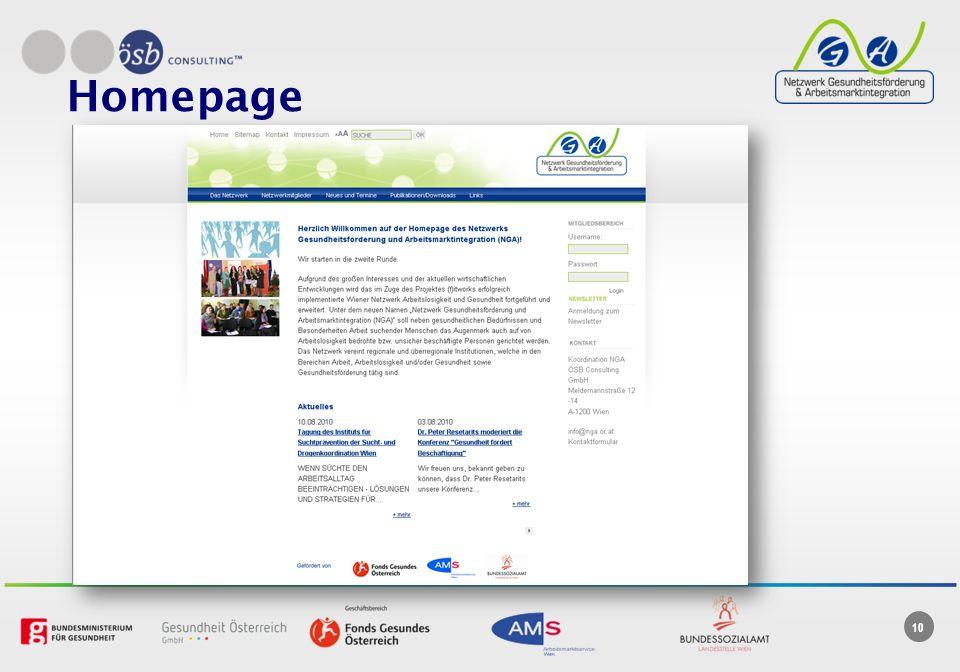 10 Homepage