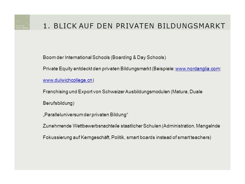 Boom der International Schools (Boarding & Day Schools) Private Equity entdeckt den privaten Bildungsmarkt (Beispiele: www.nordanglia.com; www.dulwich