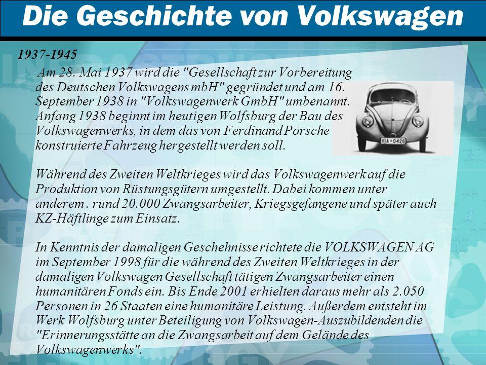 Die Geschichte von Volkswagen 1937-1945 Am 28.