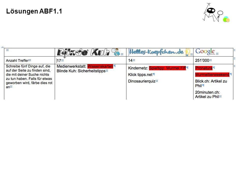 Lösungen ABF1.1