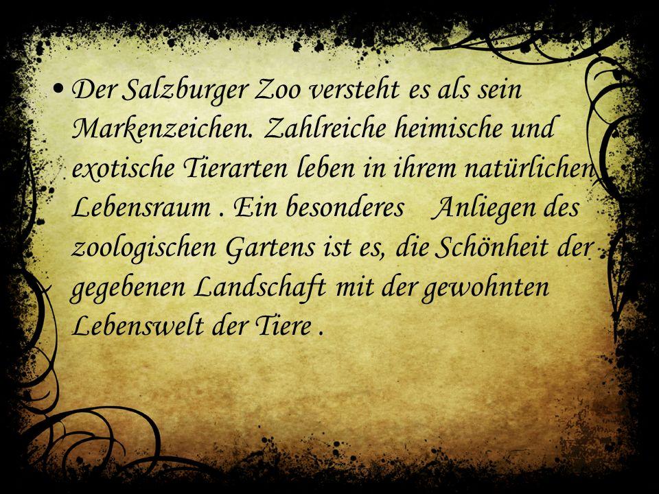 Der Salzburger Zoo versteht es als sein Markenzeichen.