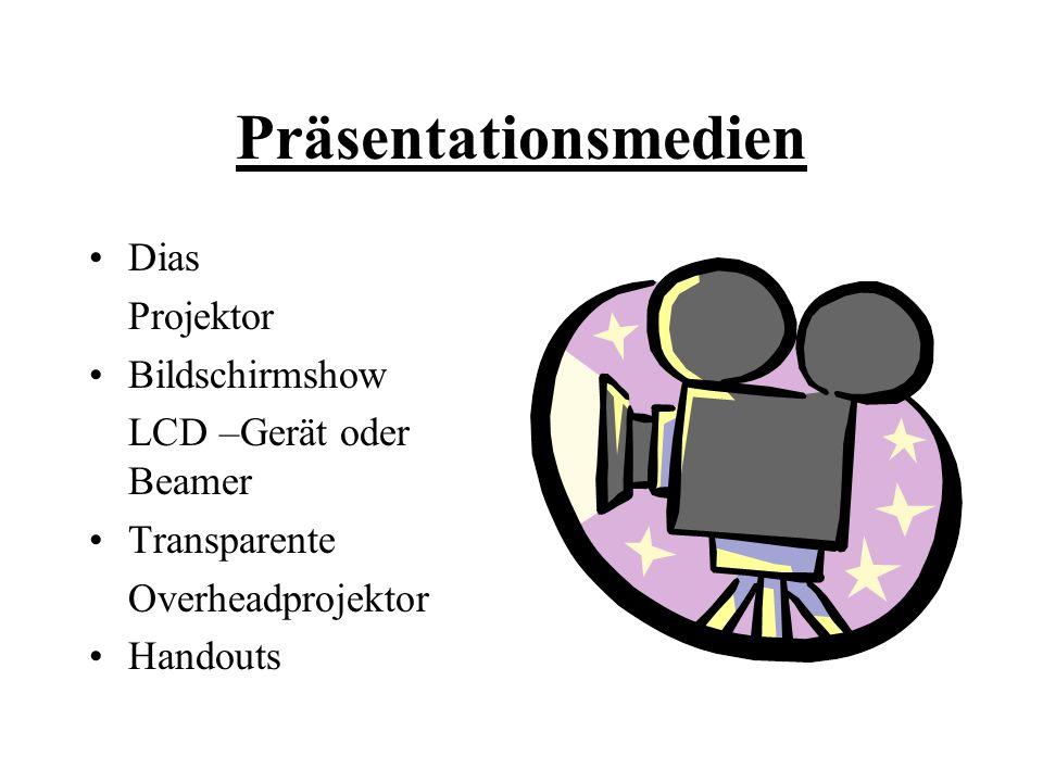 Präsentationsmedien Dias Projektor Bildschirmshow LCD –Gerät oder Beamer Transparente Overheadprojektor Handouts