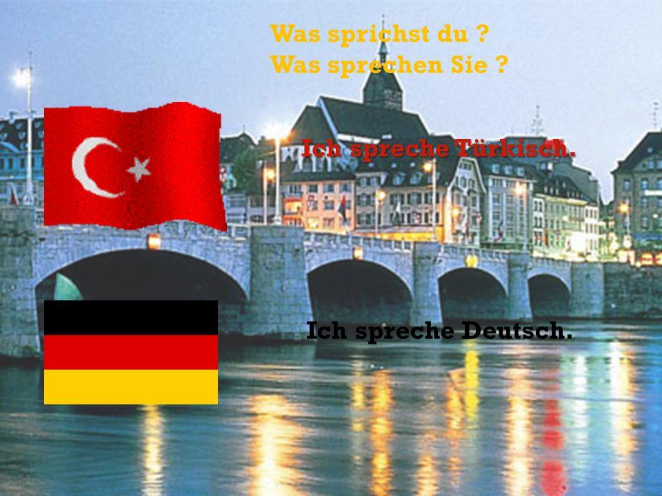 Was sprichst du ? Was sprechen Sie ? Ich spreche Türkisch. Ich spreche Deutsch.