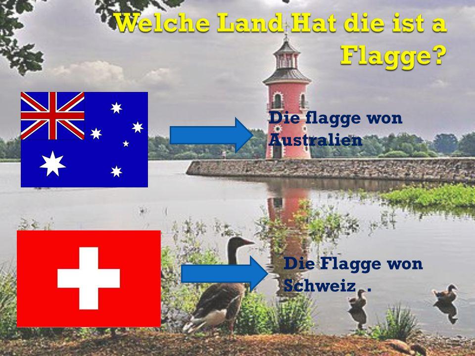 Die flagge won Australien Die Flagge won Schweiz.