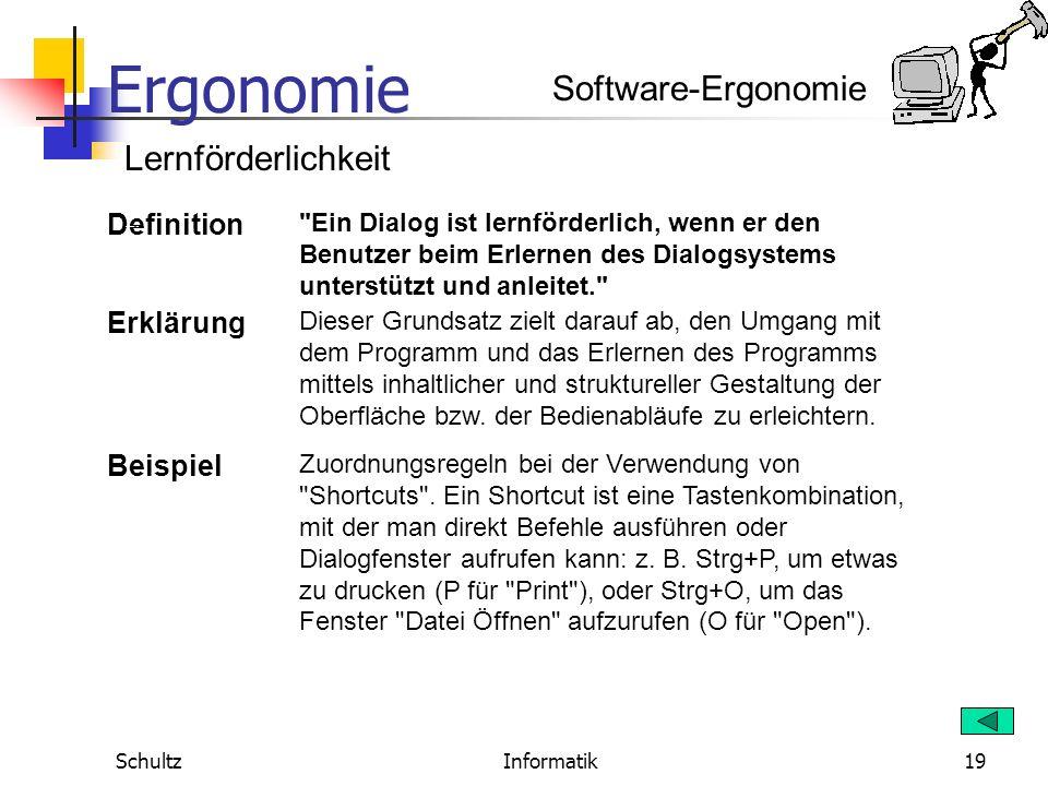 Ergonomie SchultzInformatik18 Software-Ergonomie Individualisierbarkeit Definition