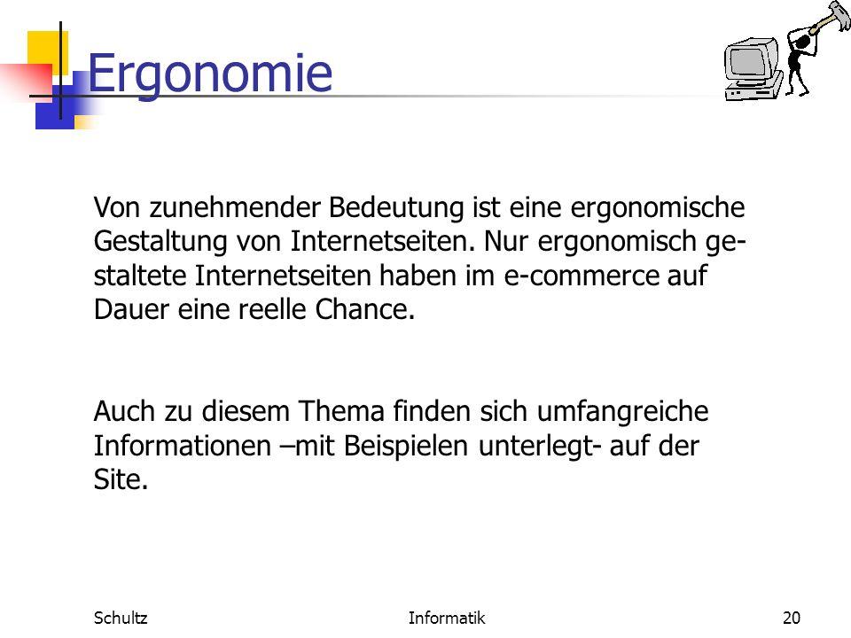 Ergonomie SchultzInformatik19 Lernförderlichkeit Software-Ergonomie Definition