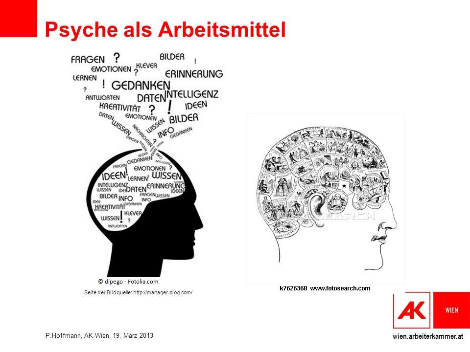 wien.arbeiterkammer.at Seite der Bildquelle: http://manager-blog.com/ Psyche als Arbeitsmittel P.Hoffmann, AK-Wien, 19.
