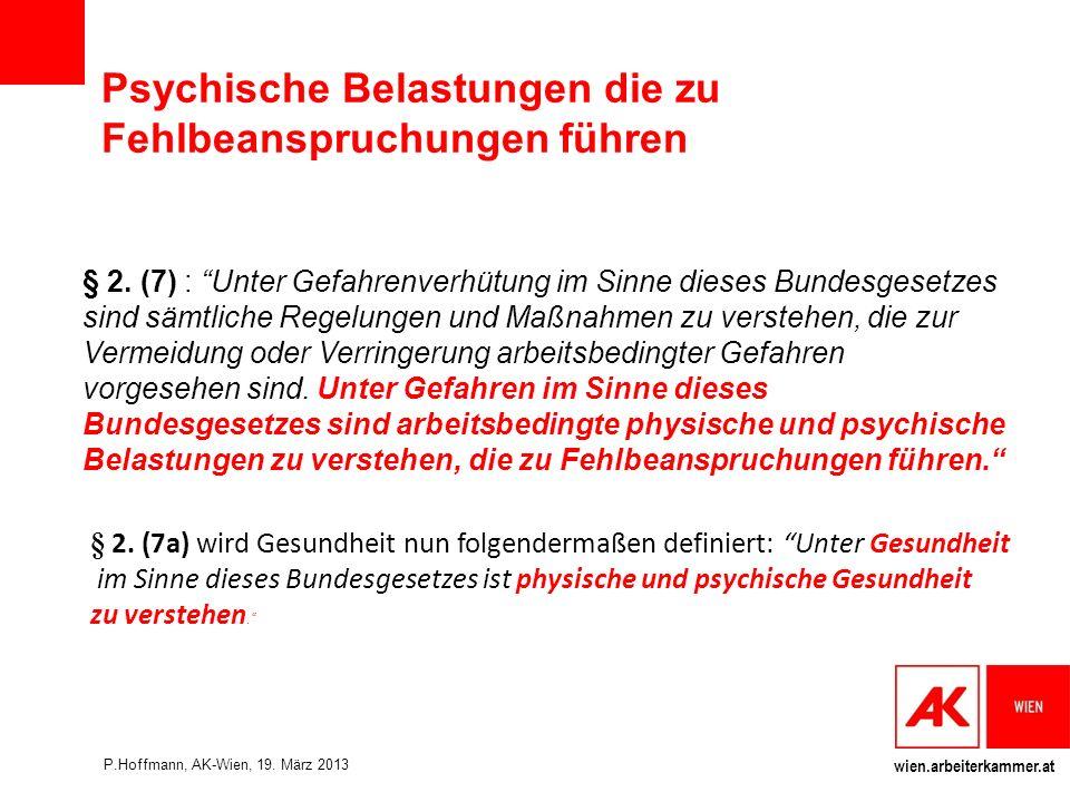 wien.arbeiterkammer.at Psychische Belastungen die zu Fehlbeanspruchungen führen § 2.
