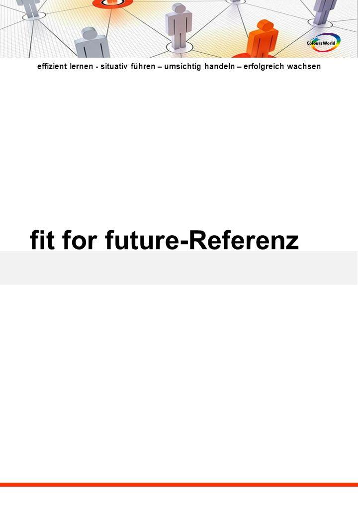 effizient lernen - situativ führen – umsichtig handeln – erfolgreich wachsen fit for future-Referenz