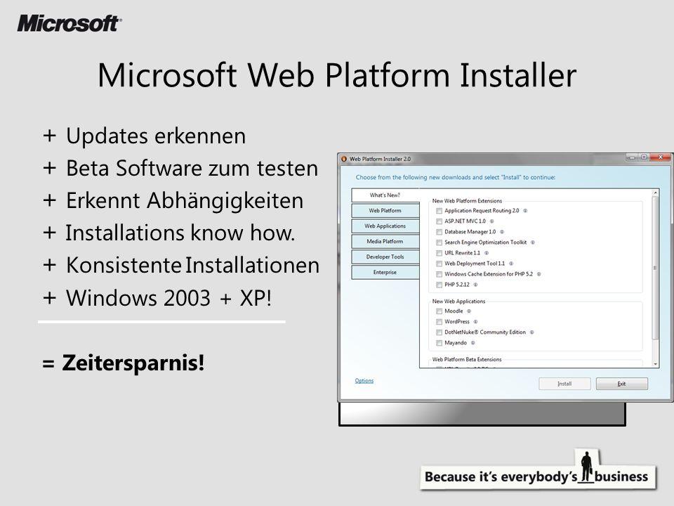 + Updates erkennen + Beta Software zum testen + Erkennt Abhängigkeiten + Installations know how.