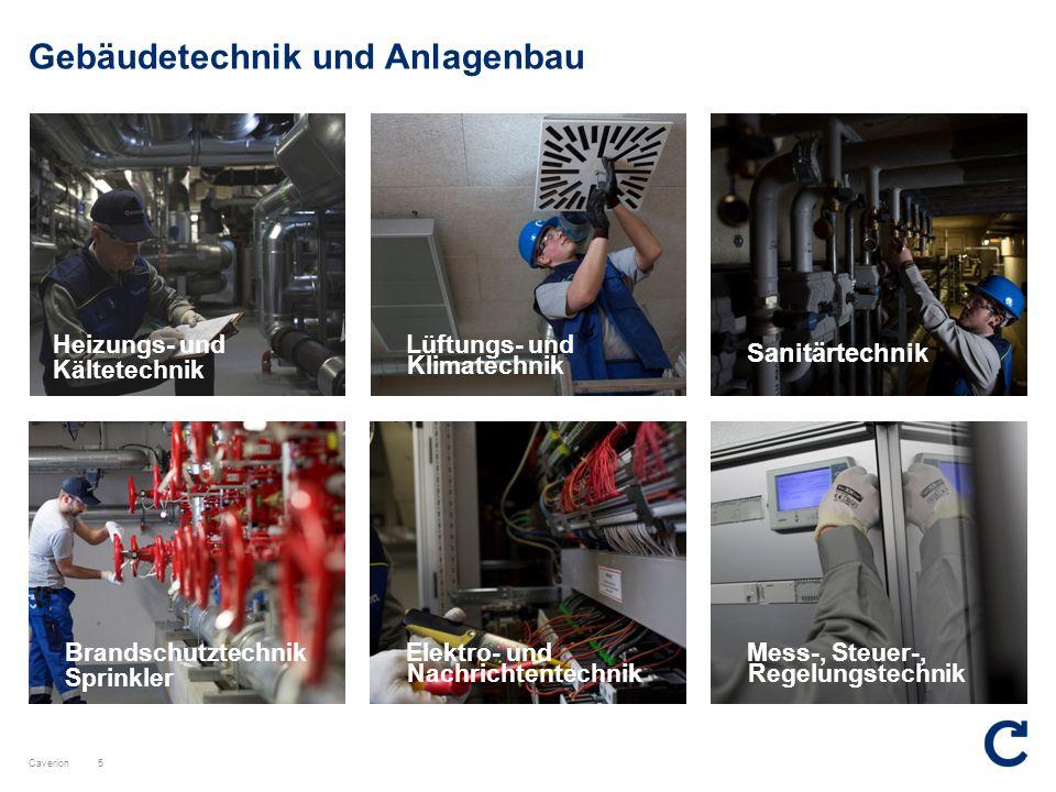 Caverion Gebäudetechnik und Anlagenbau Brandschutztechnik Sprinkler 5 Sanitärtechnik Heizungs- und Kältetechnik Lüftungs- und Klimatechnik Elektro- un