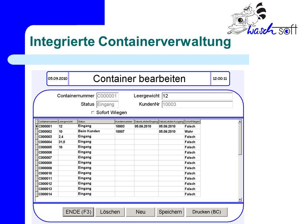Integrierte Containerverwaltung