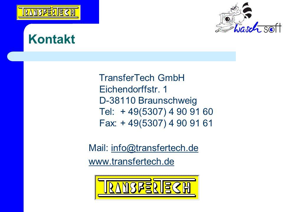 Kontakt TransferTech GmbH Eichendorffstr. 1 D-38110 Braunschweig Tel: + 49(5307) 4 90 91 60 Fax: + 49(5307) 4 90 91 61 Mail: info@transfertech.deinfo@