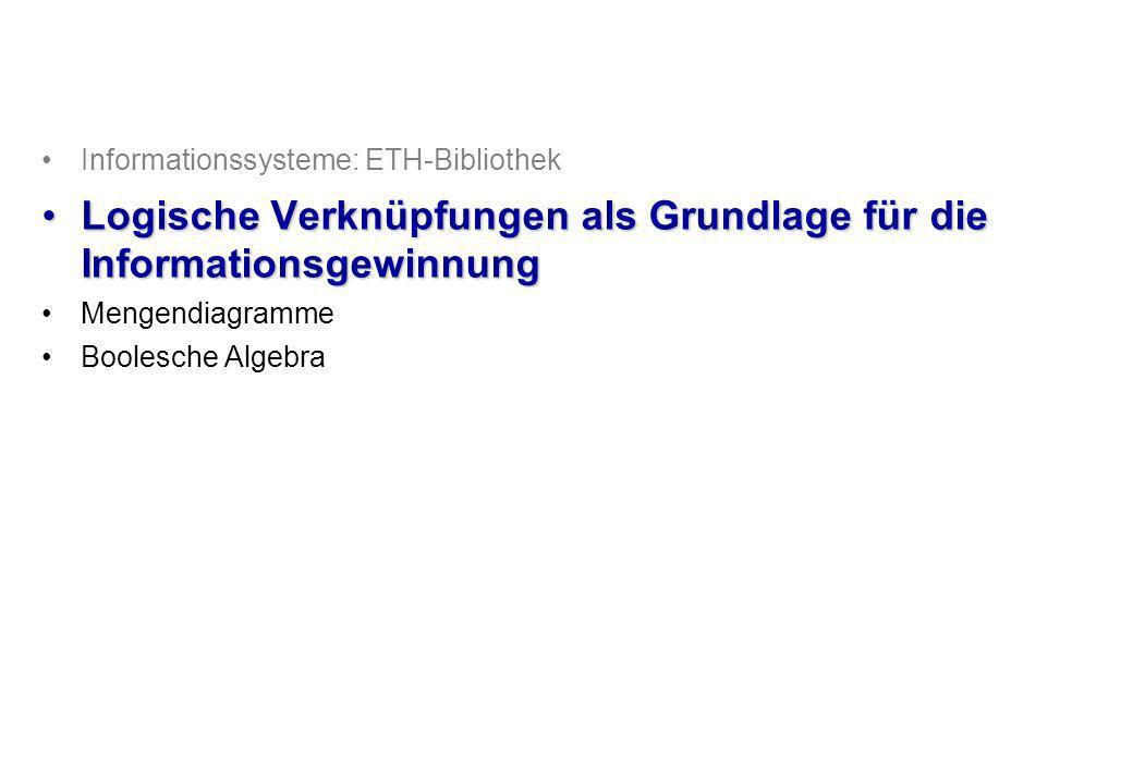 © Institut für Computational Science, ETH Zürich Wiedergewinnung von Information: Relationale Datenbank Normalisieren Relationale Operatoren (Select, Project, Join) Ursprüngliche Information Relationen Wiedergewonnene Information 3/25