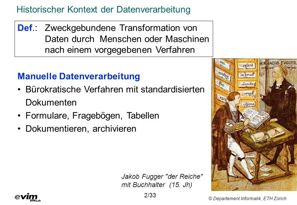 © Departement Informatik, ETH Zürich Worum geht es.