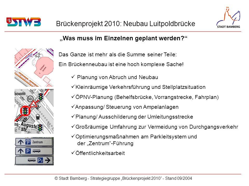Brückenprojekt 2010: Neubau Luitpoldbrücke © Stadt Bamberg - Strategiegruppe Brückenprojekt 2010 - Stand 09/2004 Das Ganze ist mehr als die Summe sein