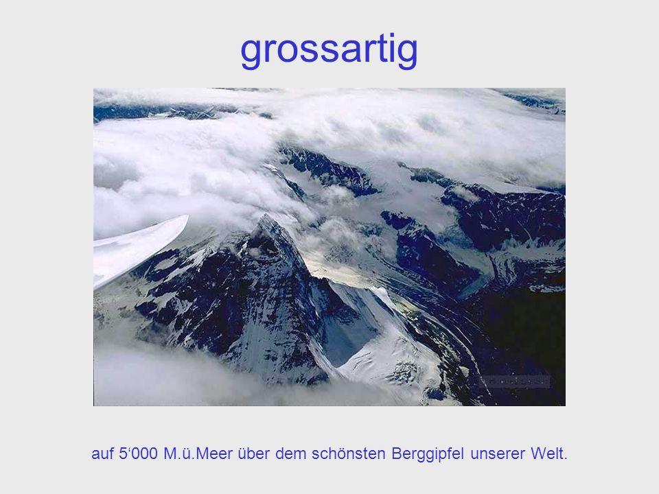 grossartig auf 5000 M.ü.Meer über dem schönsten Berggipfel unserer Welt.