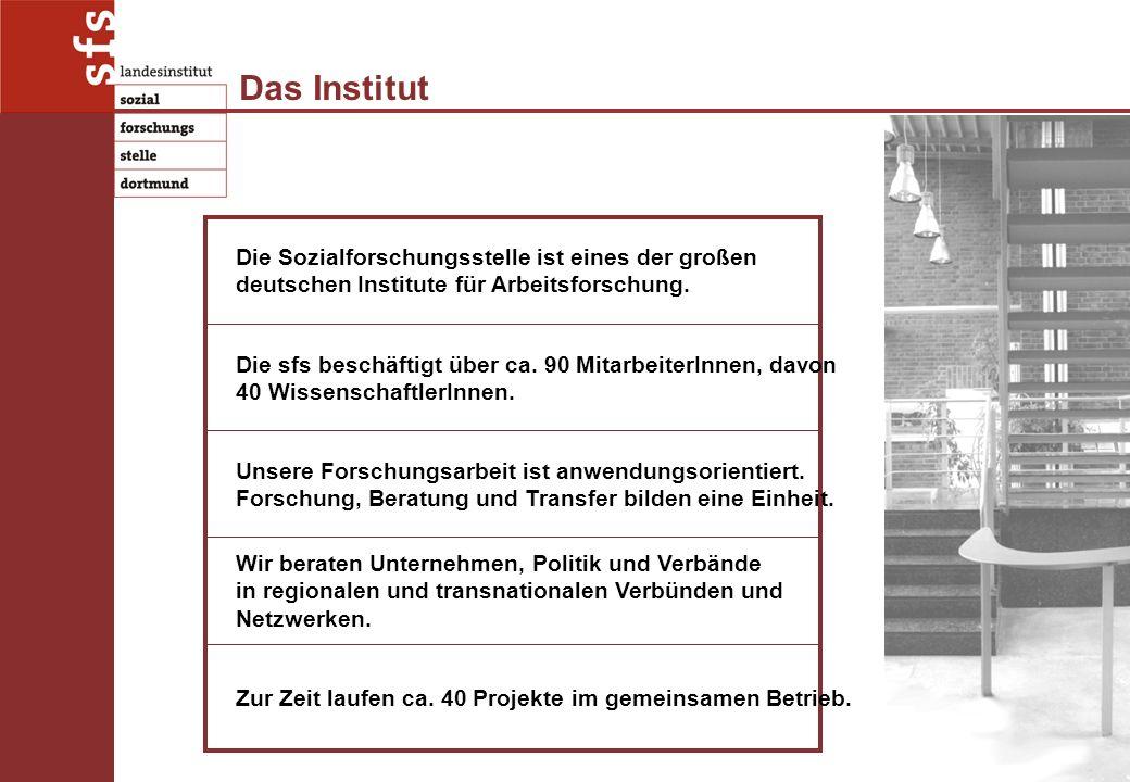 Das Institut Die Sozialforschungsstelle ist eines der großen deutschen Institute für Arbeitsforschung.