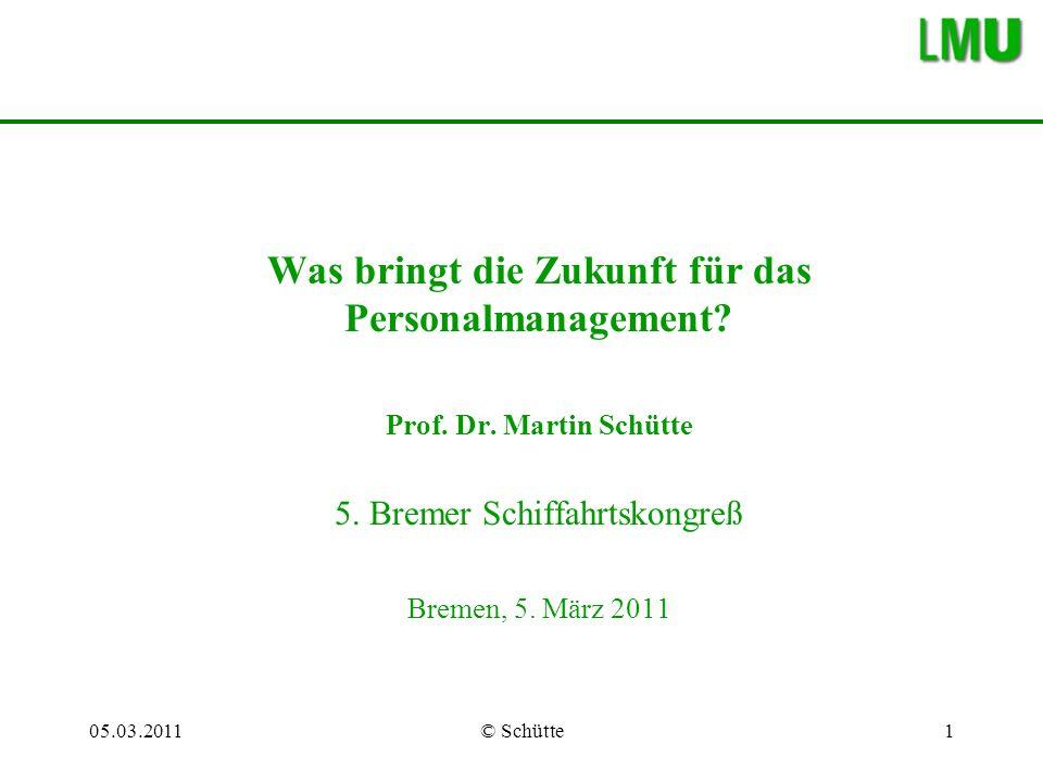 05.03.2011© Schütte2 Gliederung I.Was bringt die Zukunft.